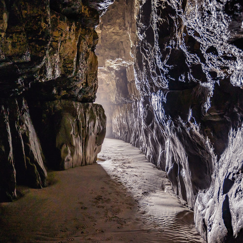 The cave walls, Cathedral Caves, Catlins