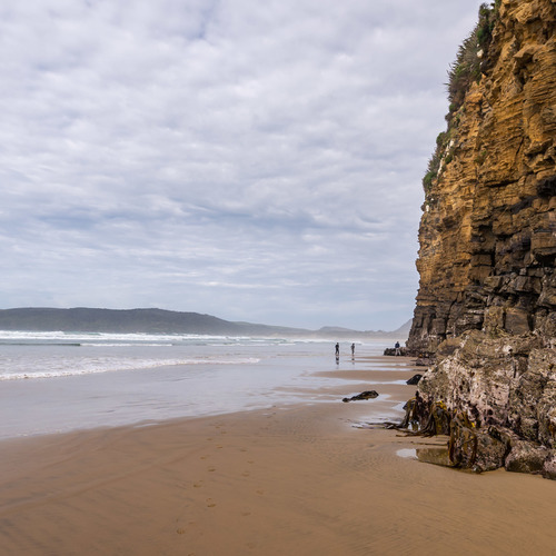 The cliffs at Cathedral Caves, Catlins